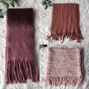 Bundle of 3 pink scarves lucky brand apt 9